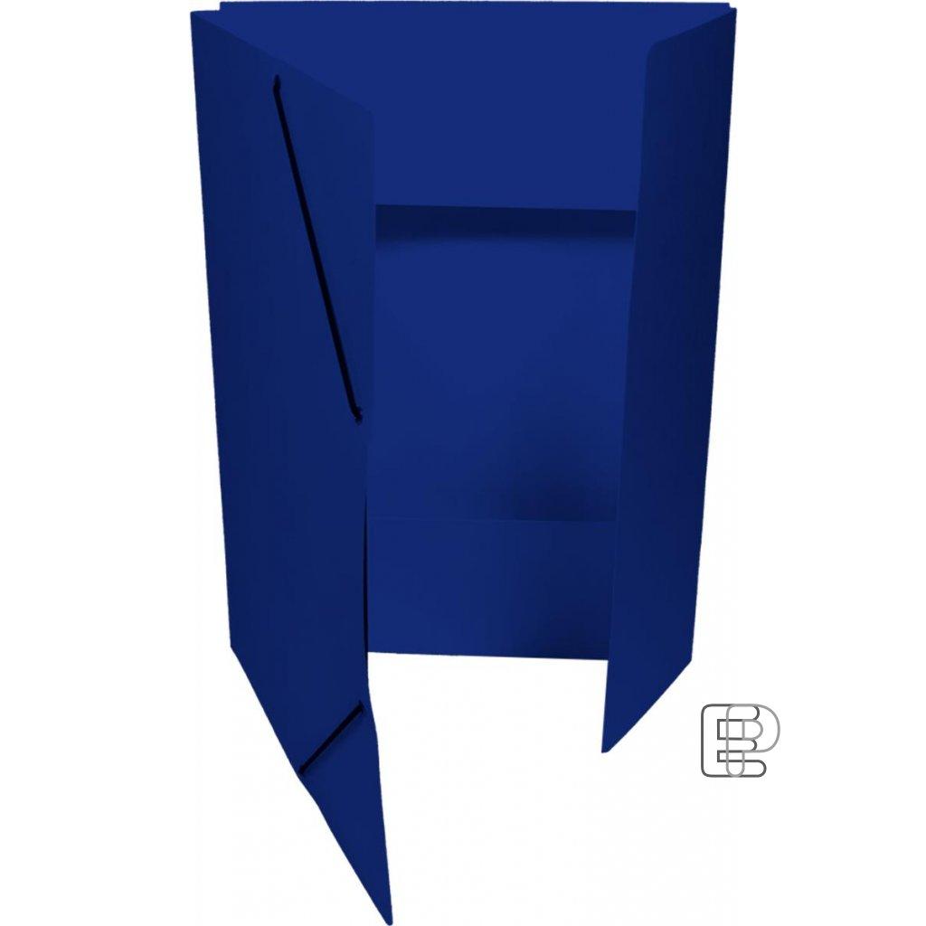 Mapa 253 Prešpánová s gumou tm.modrá