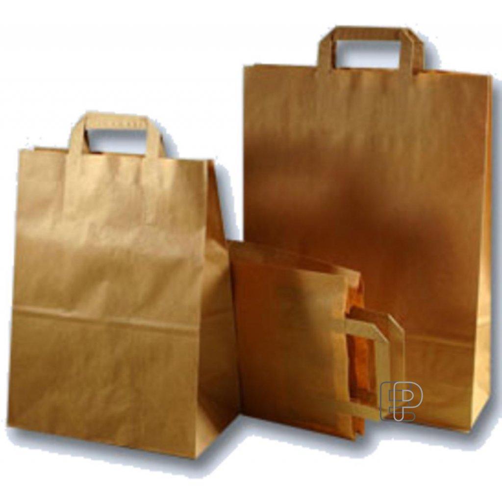 Taška papírová hnědá 320x170x410