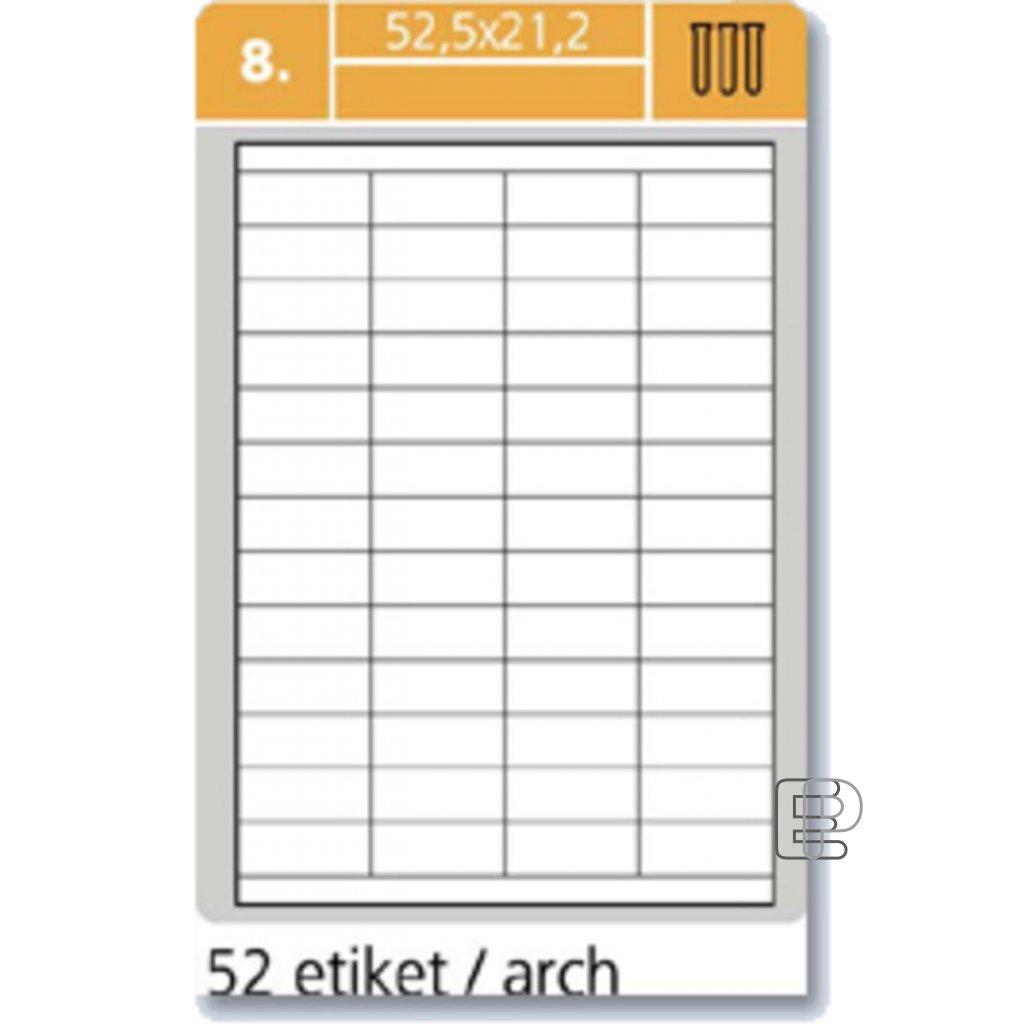 SLE Laser 52.5x21.2 5200 etiket