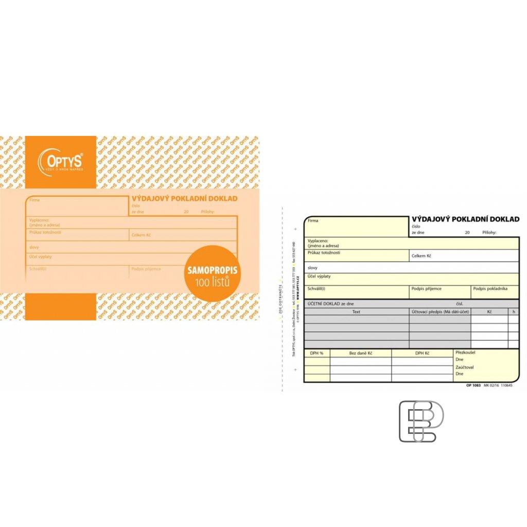 TOpt Výdajový pokladní doklad NCR 1083