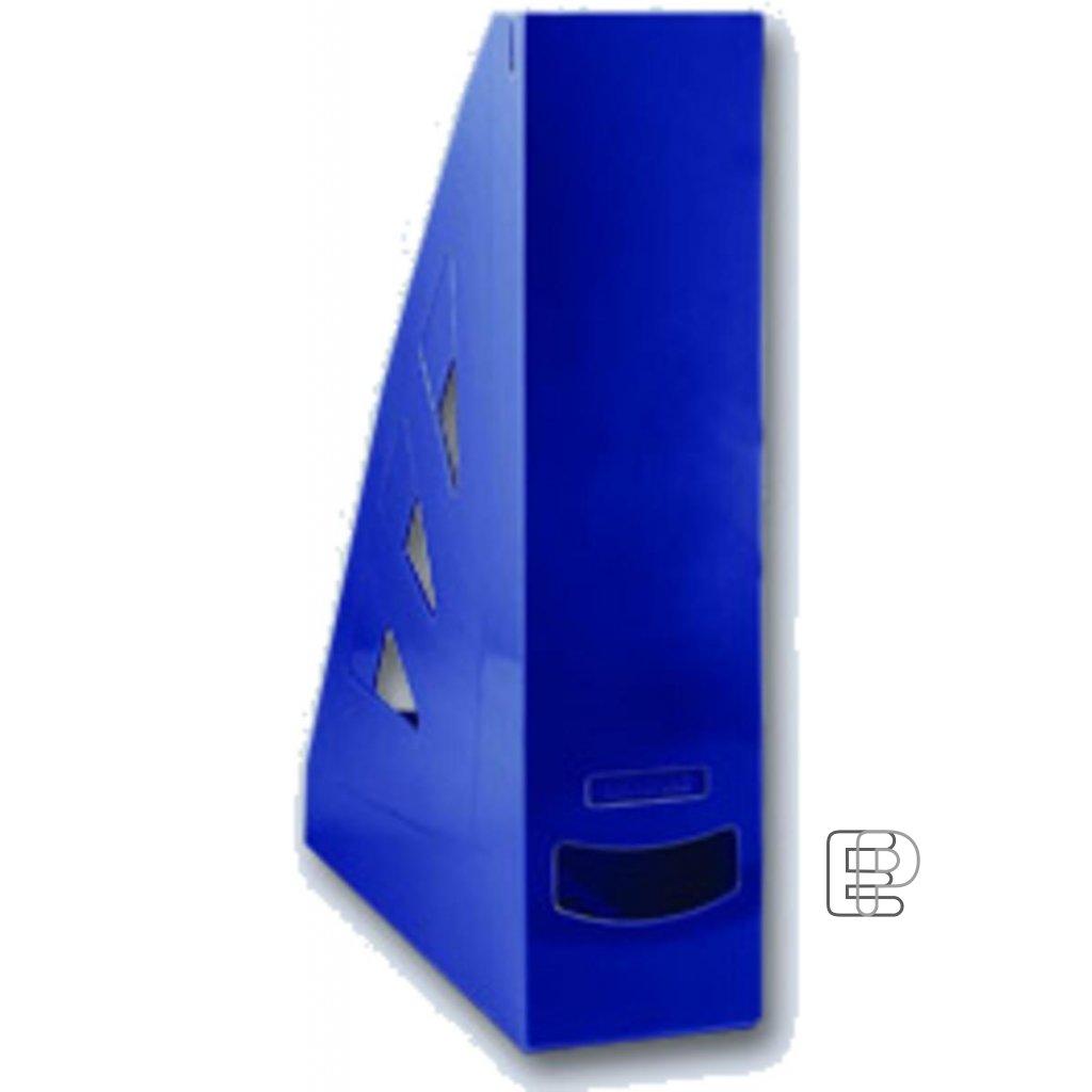 Stojan zkosený plastový tm. modrý 70mm