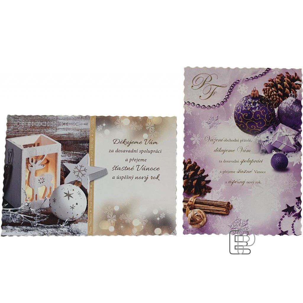 Vánoční blahopřání PF2022 50ks mix motiv