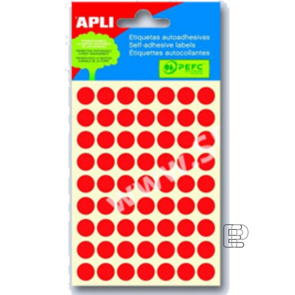 SLE Apli kulaté 10mm červené 315 etiket