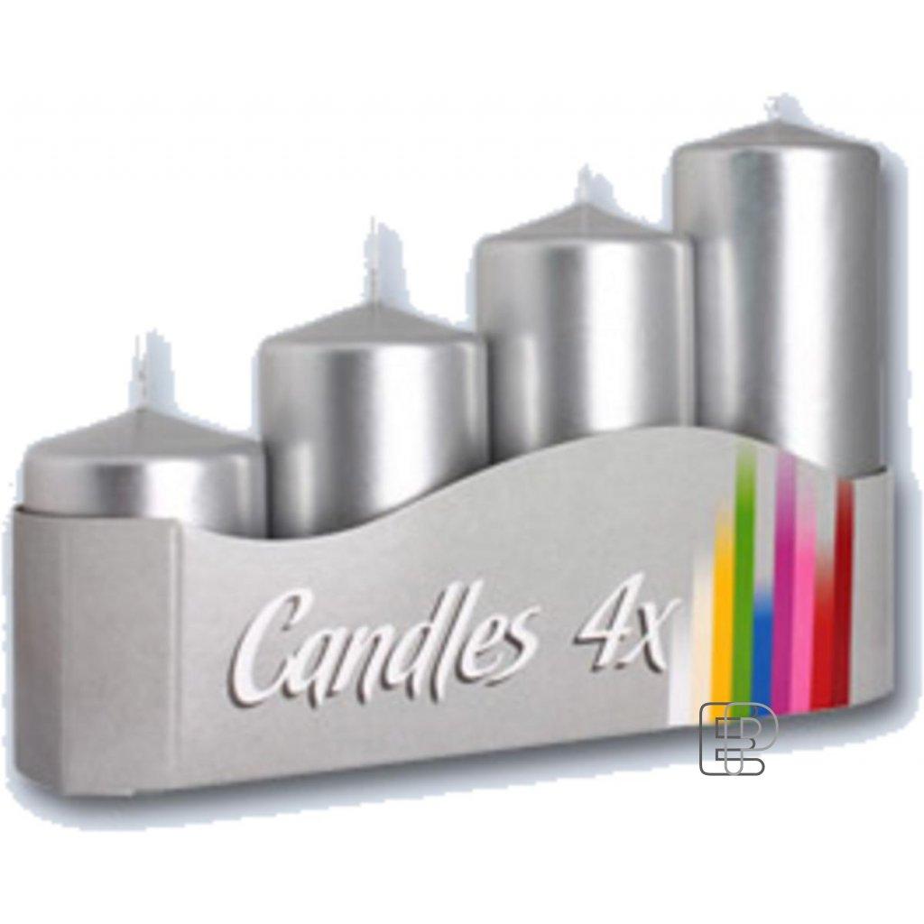 Vánoční svíčka schody sw/50/4-271 stříbr