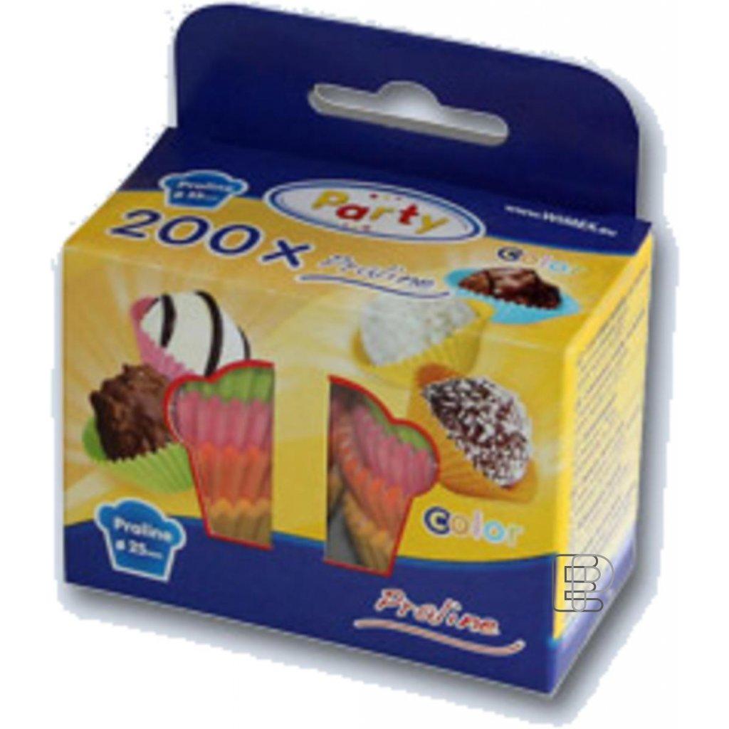 Cukr. košíčky 25x18 barevné 200ks 65526