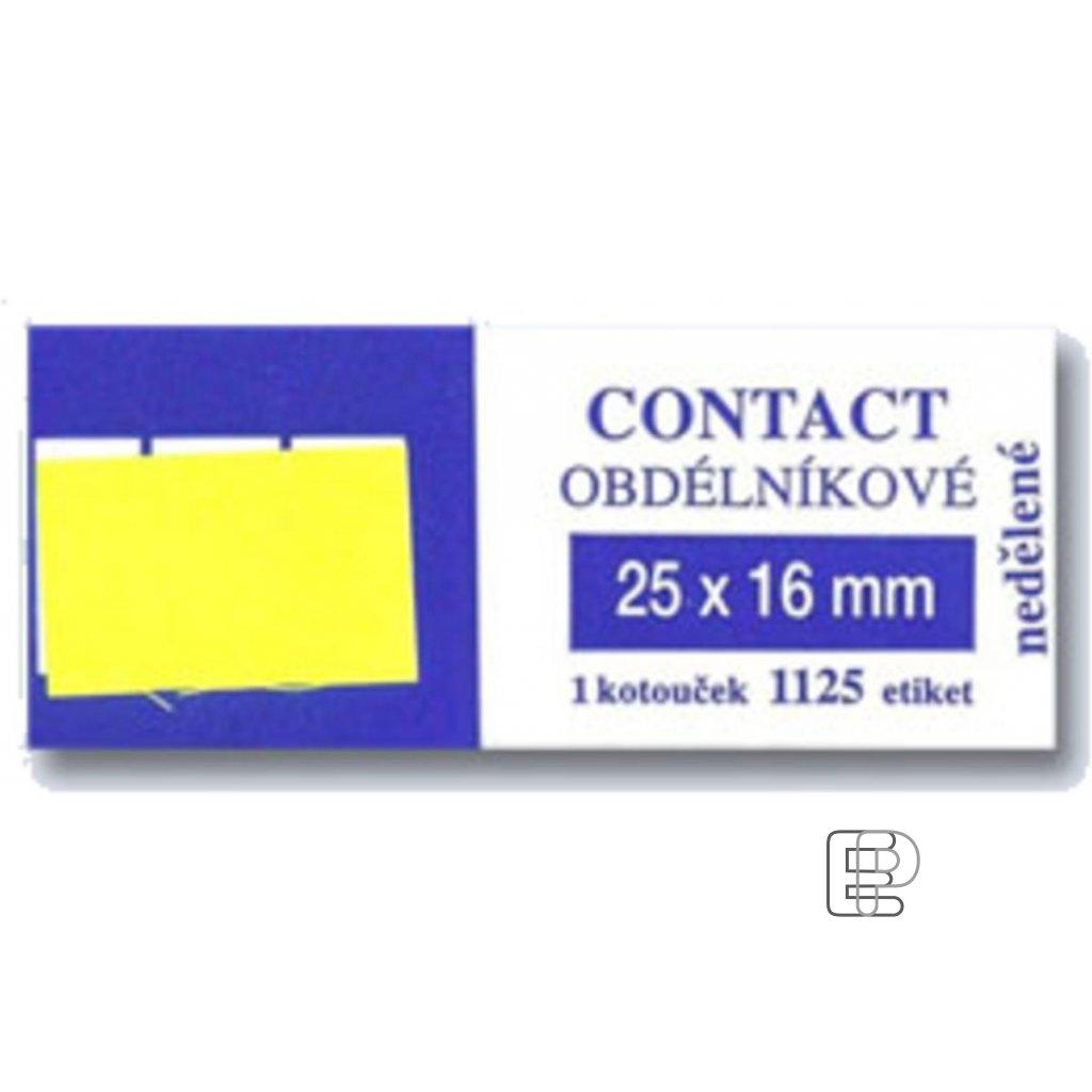 SLE Contact 25x16 žluté hranaté 1125et