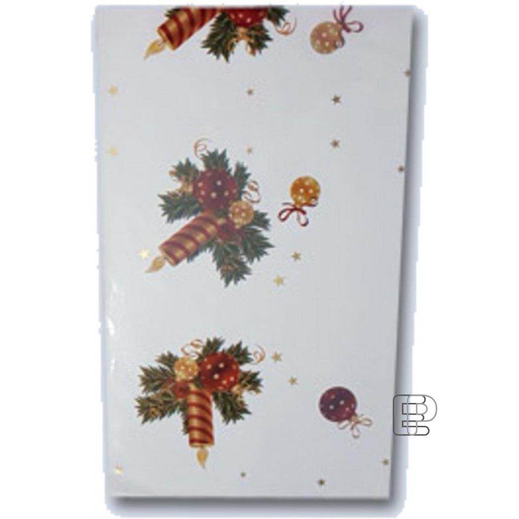 Vánoční sáček metálový potisk 15x25