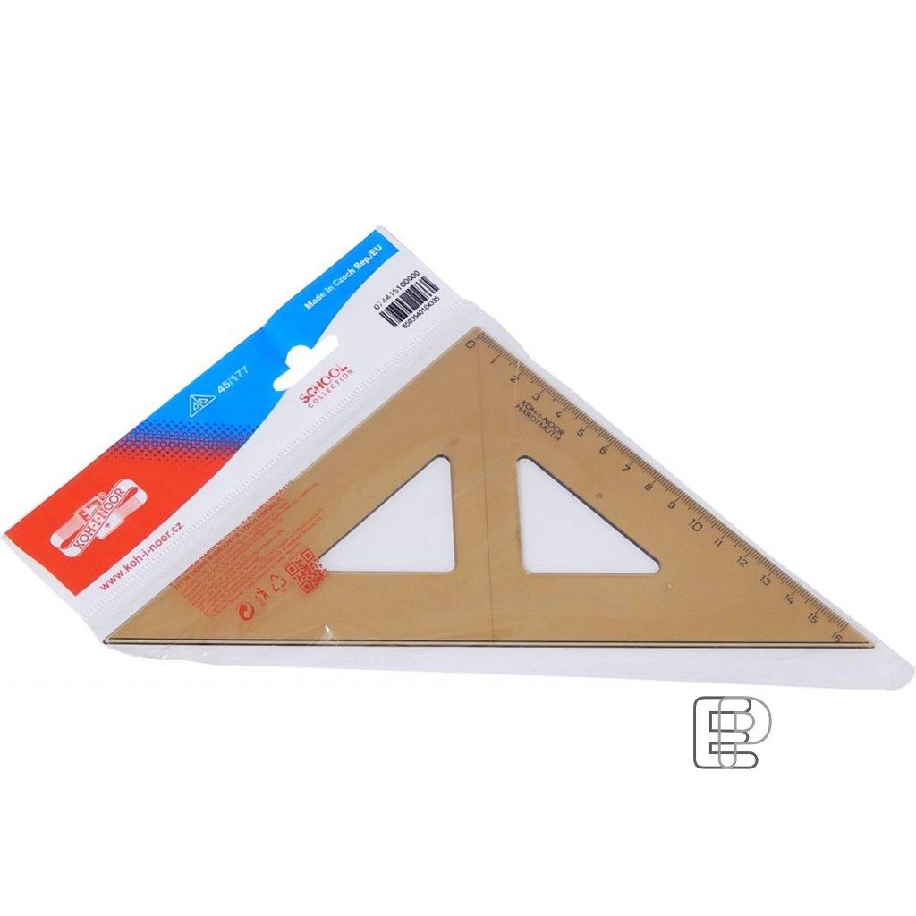 Trojúhelník 45/177 s kolmicí kouřový