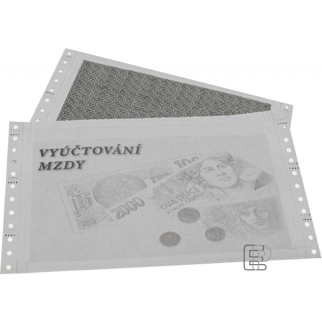 VT 25x6 1+2 mzdová obálka 1000obálek