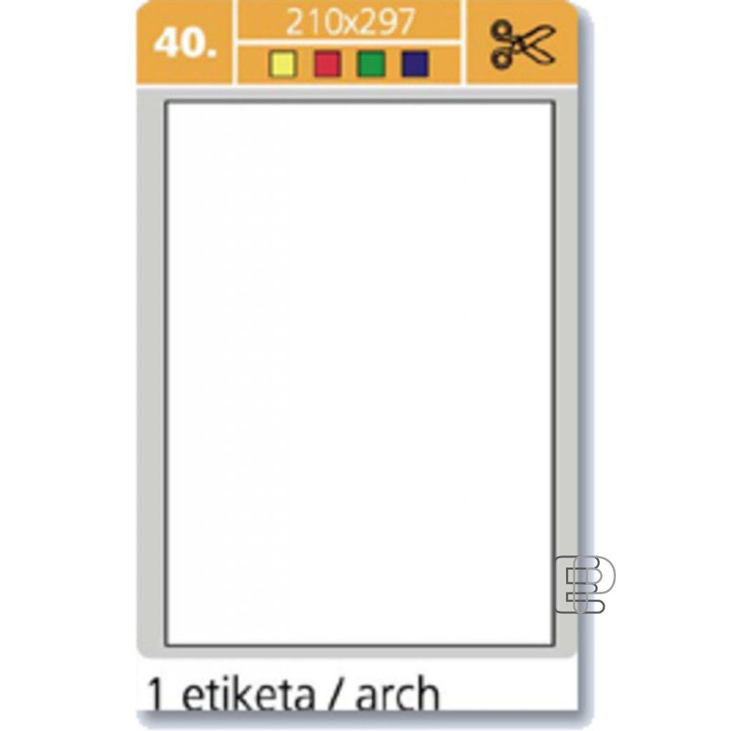 SLE Laser 210x297 žluté 100 etiket
