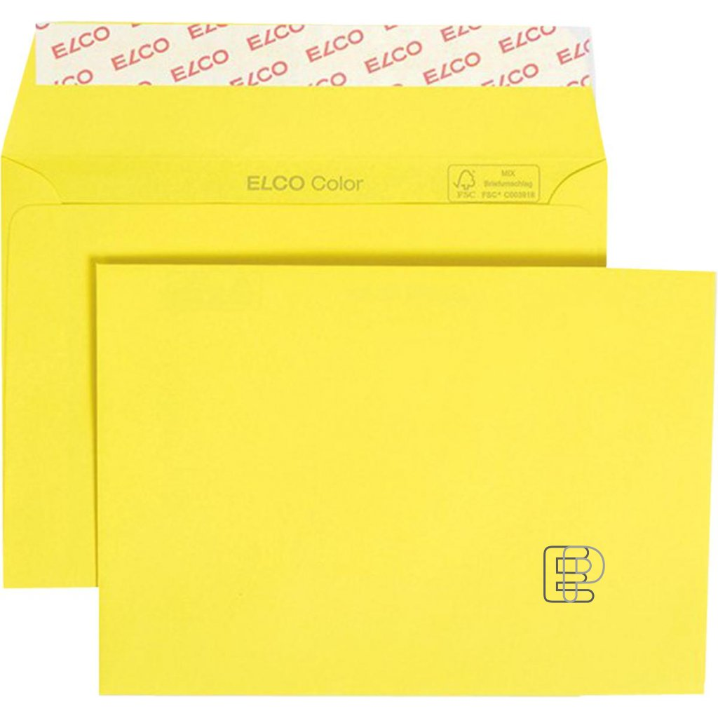 Obálka samolepící C5 žlutá 25ks