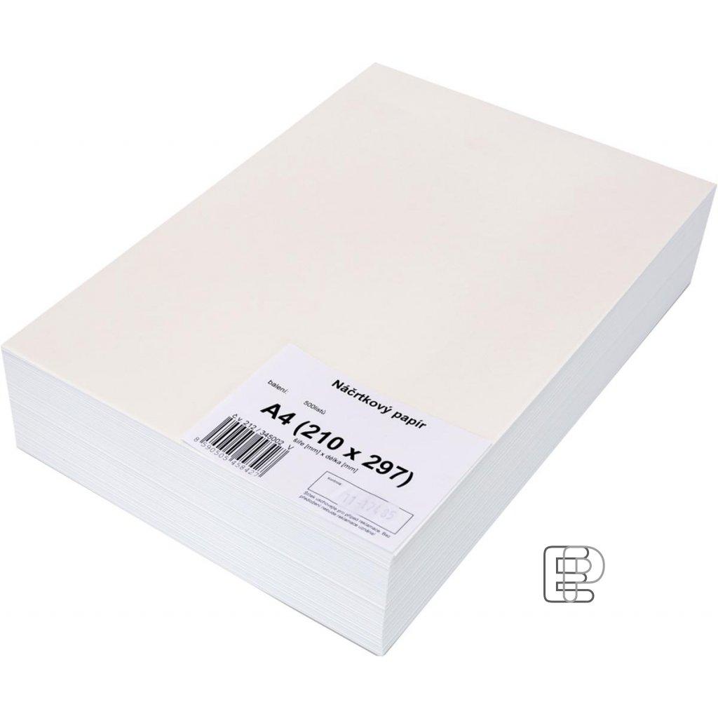 Náčrtníkový papír A4 90g 500listů