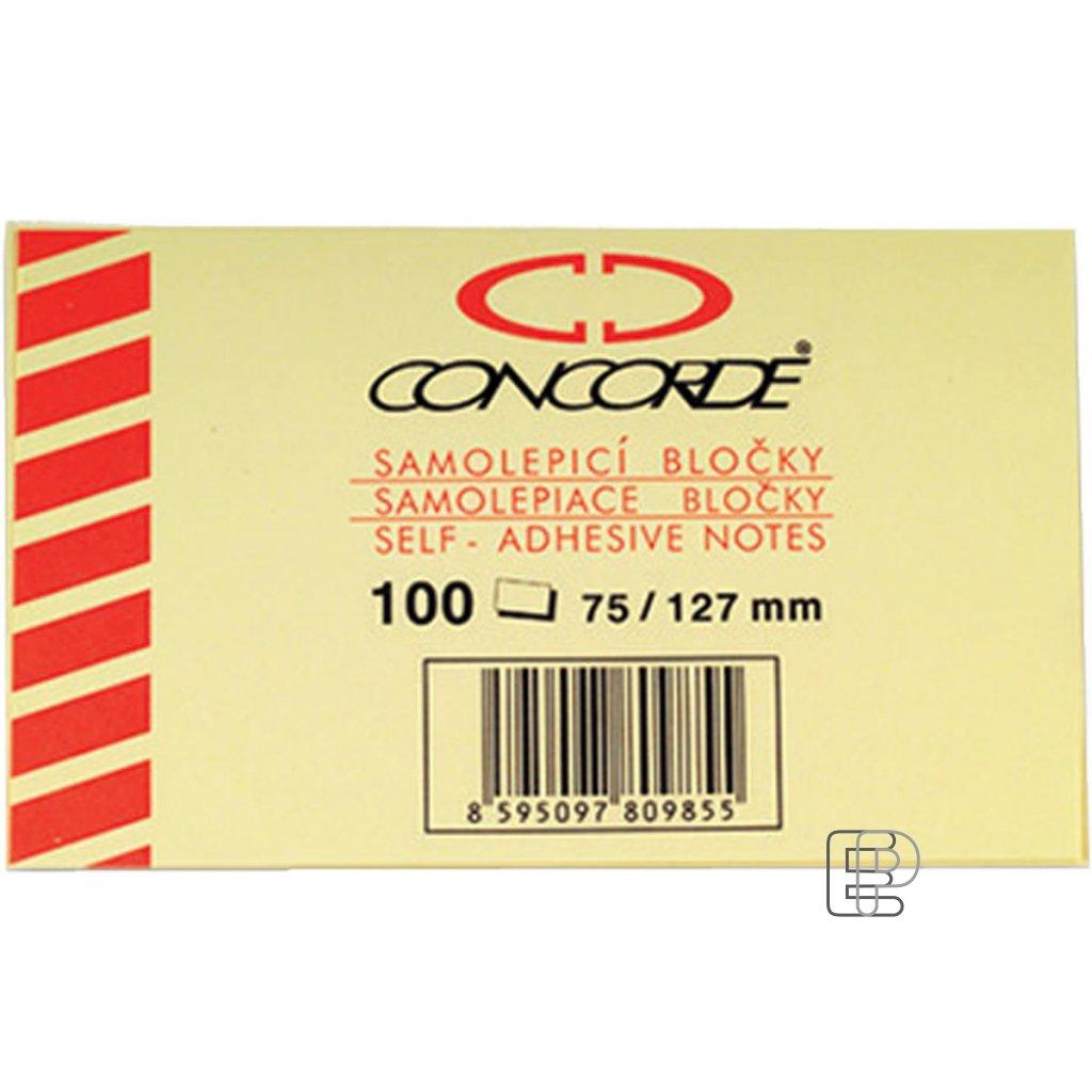 Bloček 75x127 Concorde žlutý 100l