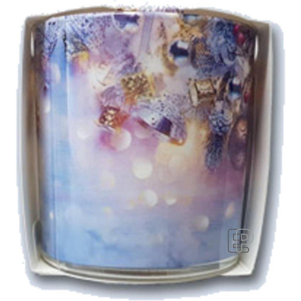 Vánoční svíčka aroma sklo Christmas gift balení 6ks