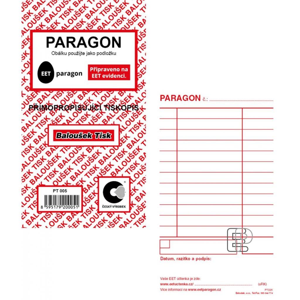 TB Paragon nečíslovaný NCR PT005