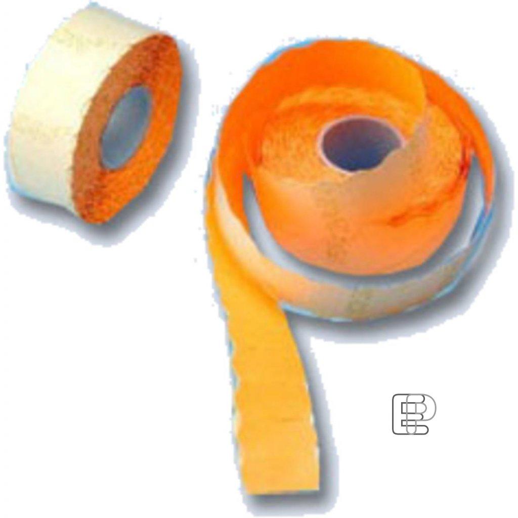 SLE Contact 26x12 oranžové 1500 etiket
