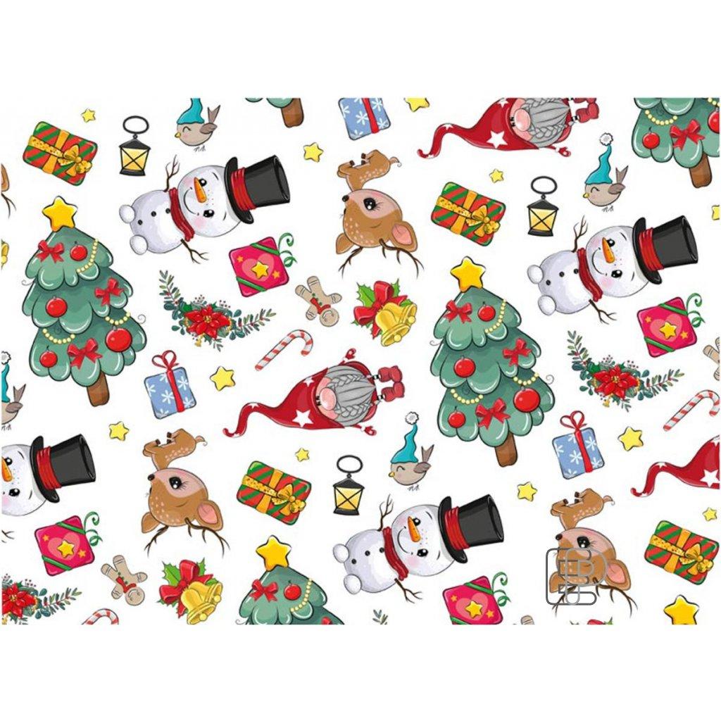 Lampion diskový průměr 33cm měsíc