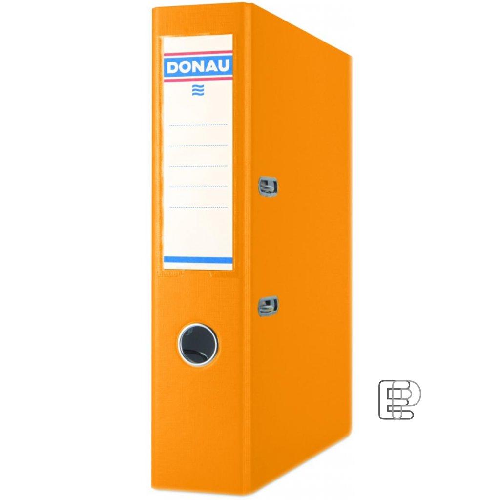 Pořadač Donau A4 7cm pákový oranžový