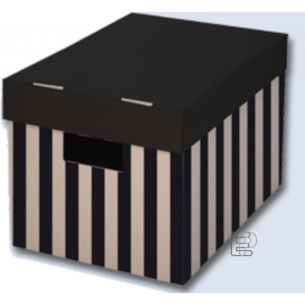 Krabice úložná s víkem 560x370x180 2ks