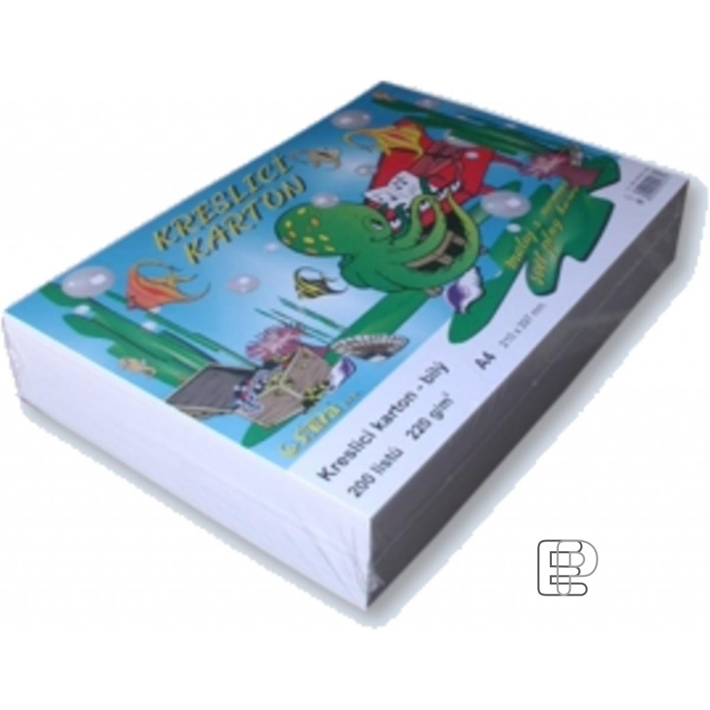 Karton A4 kreslící 220g. 200 listů