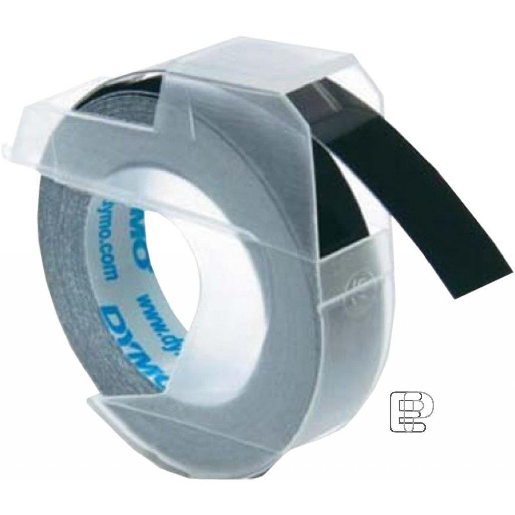 Dymo páska letratag 9mm černá 1ks