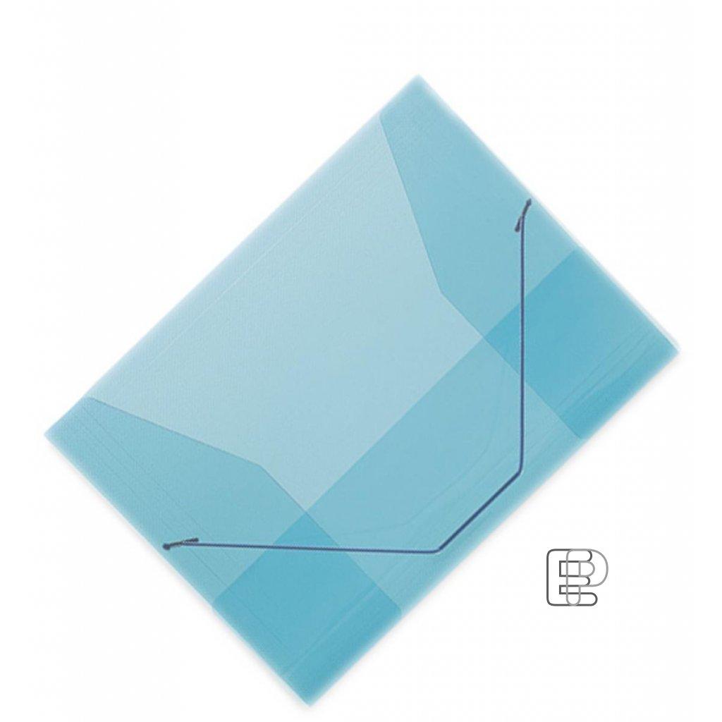 Mapa 253 plastová s gumou průhled.modrá