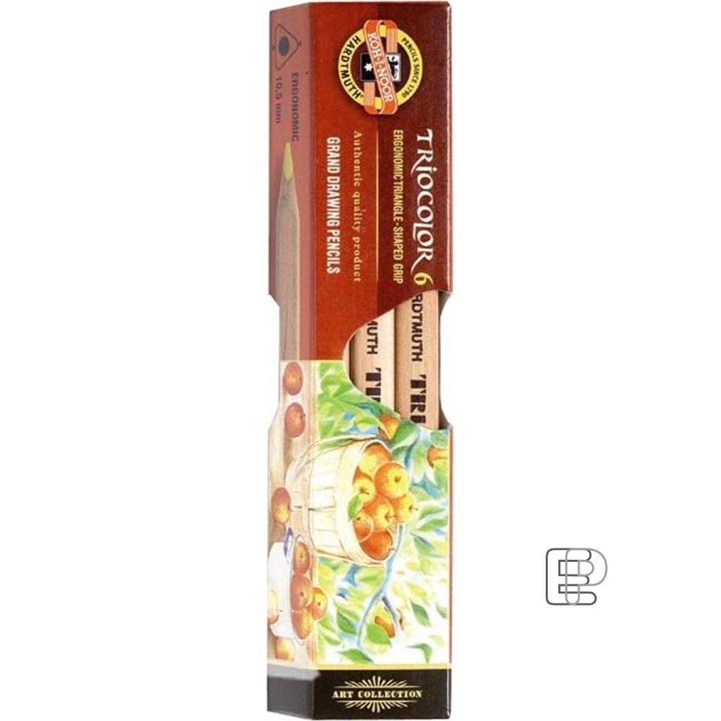 Pastelky 3151/ 6 Natural trojhranné