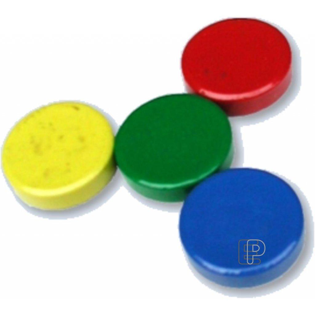 Magnet kulatý 20mm žlutý plast