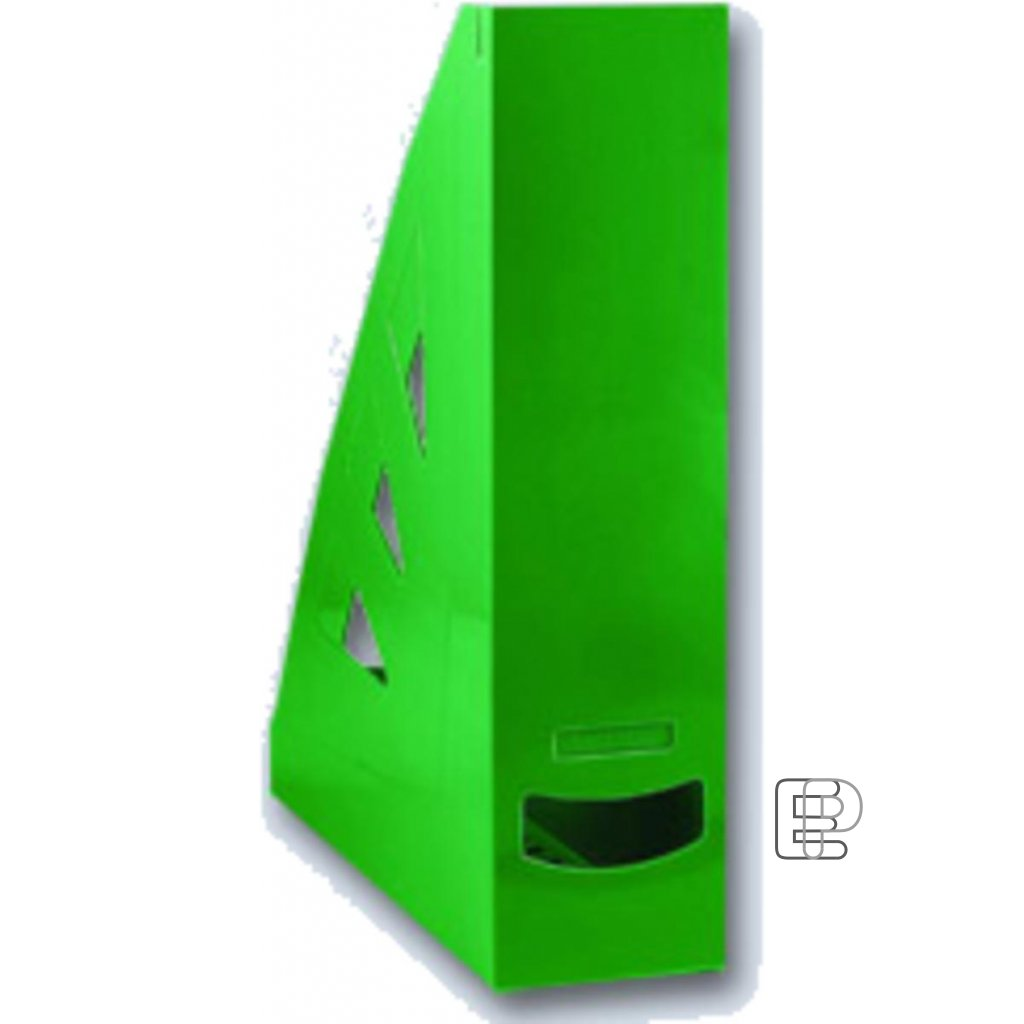 Stojan zkosený plastový zelený 70mm A4