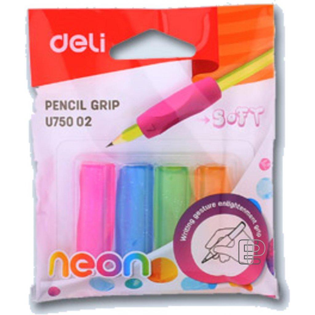 Násadka trojhranná na tužku Neon 4ks