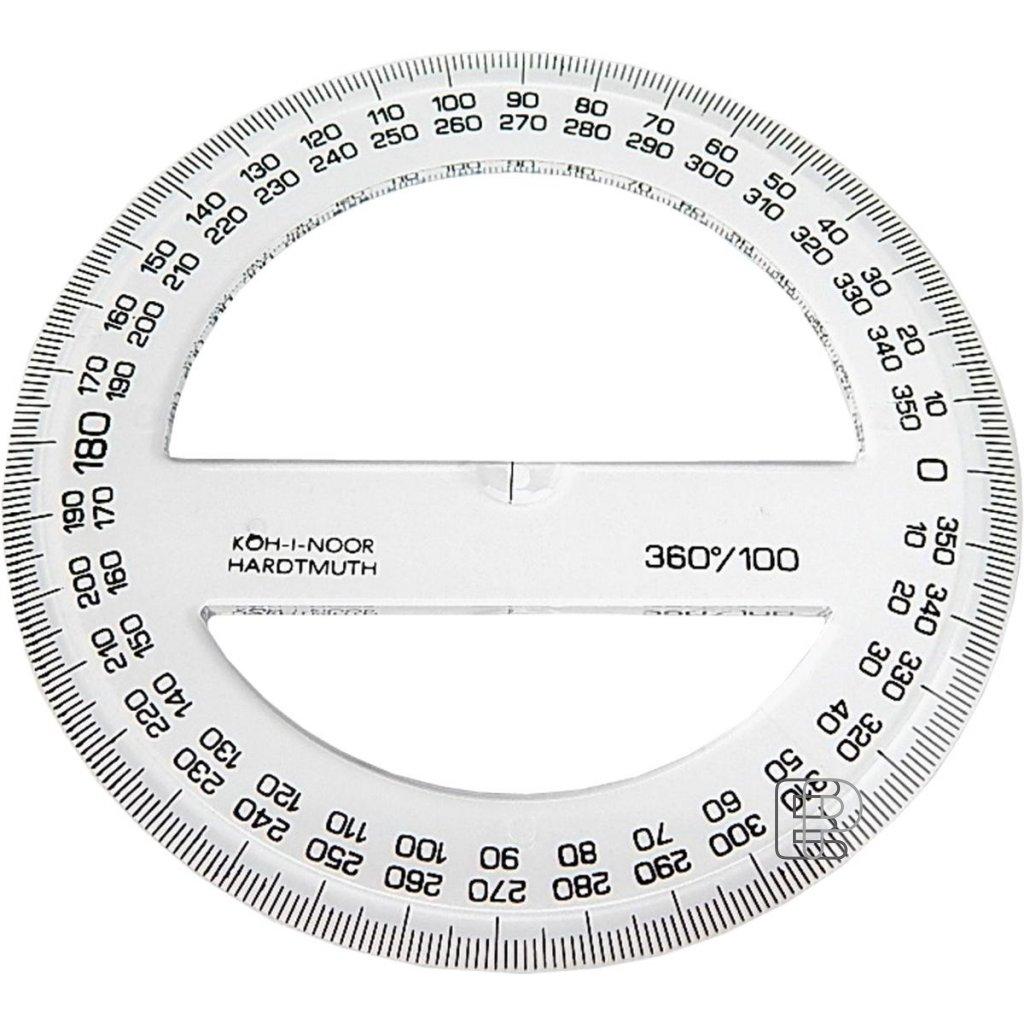 Úhloměr 360/100 transparentní