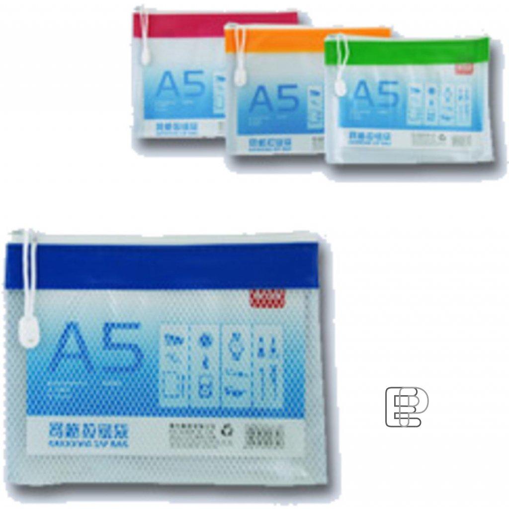 Spisové desky A5 PVC se zipem a textilem
