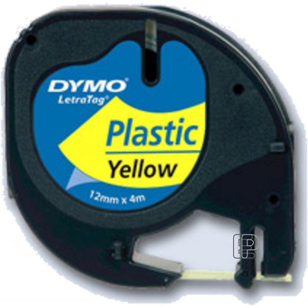 Dymo páska letratag 12mm/4m žlutá plast.