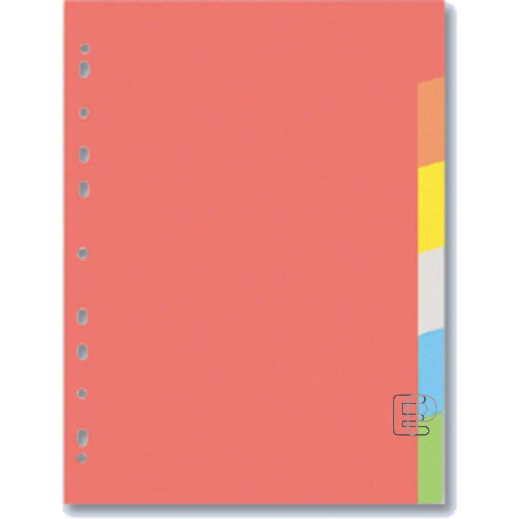 Rejstřík A4 6 barevný papír