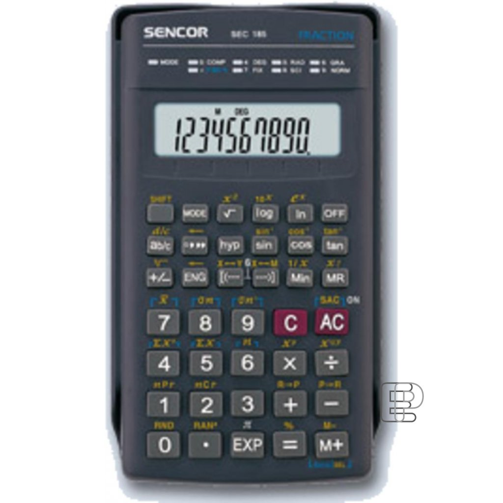 Kalkulačka vědecká Sencor SEC 185 70x130