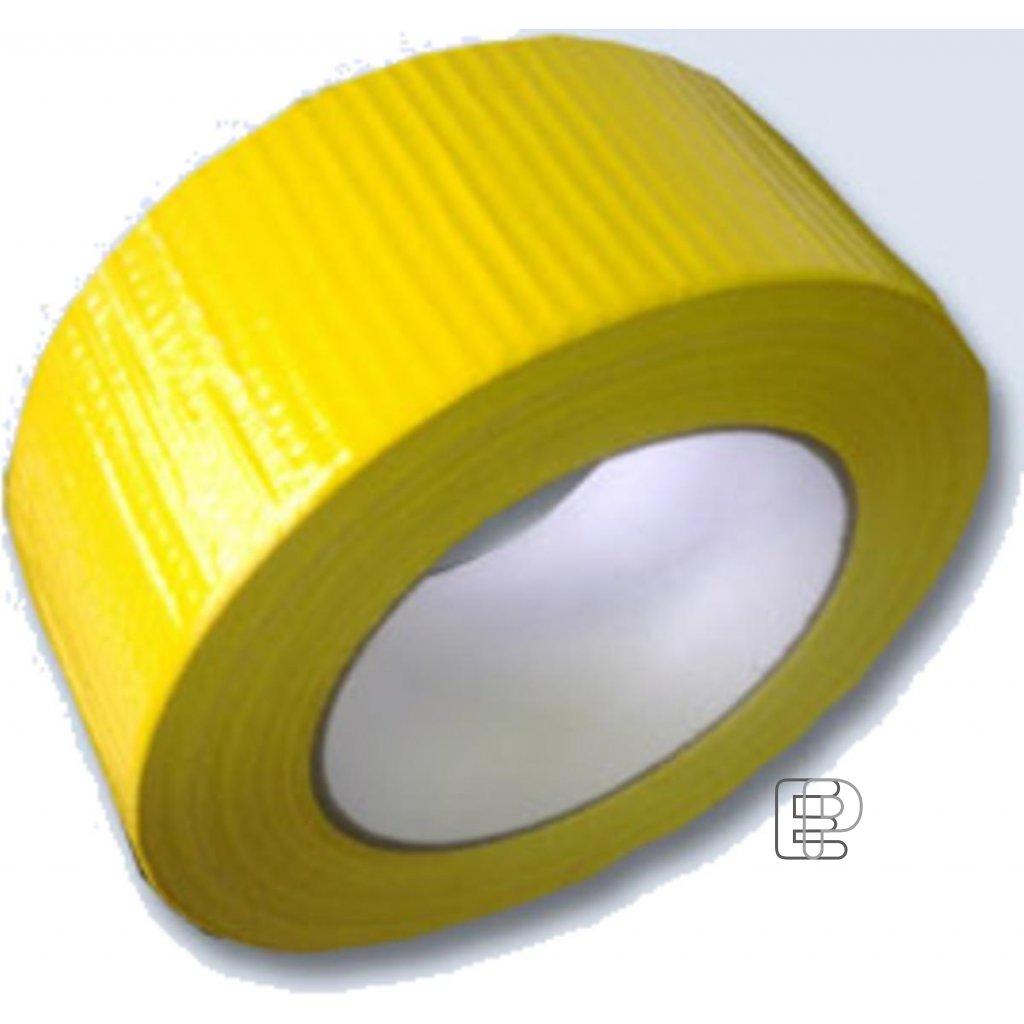 Lepící páska 48/50m žlutá s vláknem 518