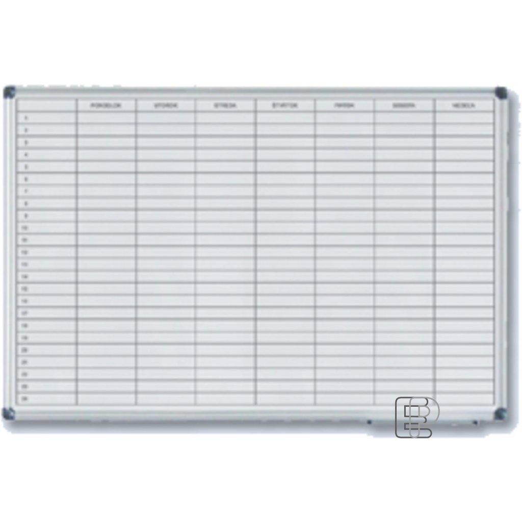 Magnetická tabule plánovací týden. 60x90