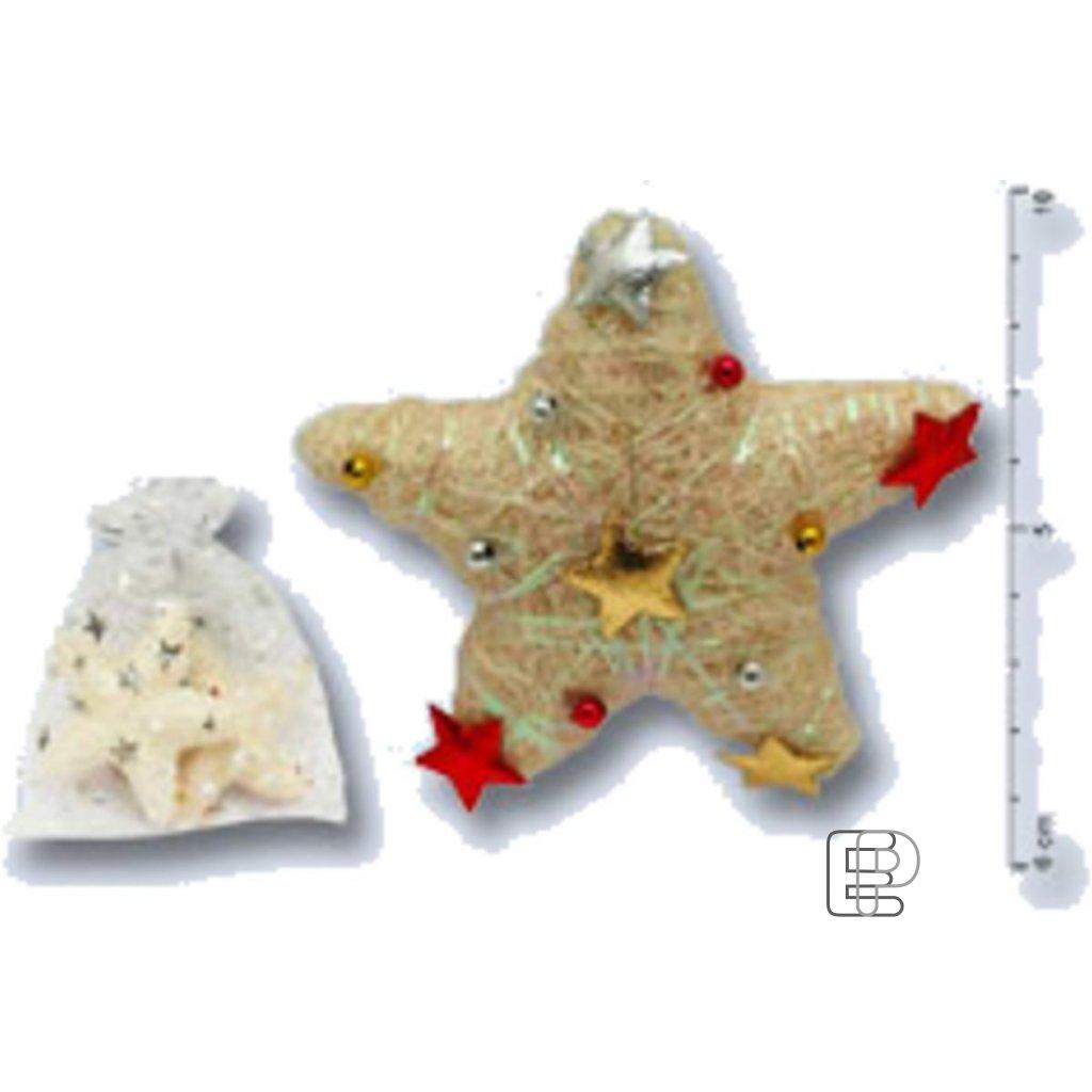Vánoční hvězda 8cm 2ks 5190