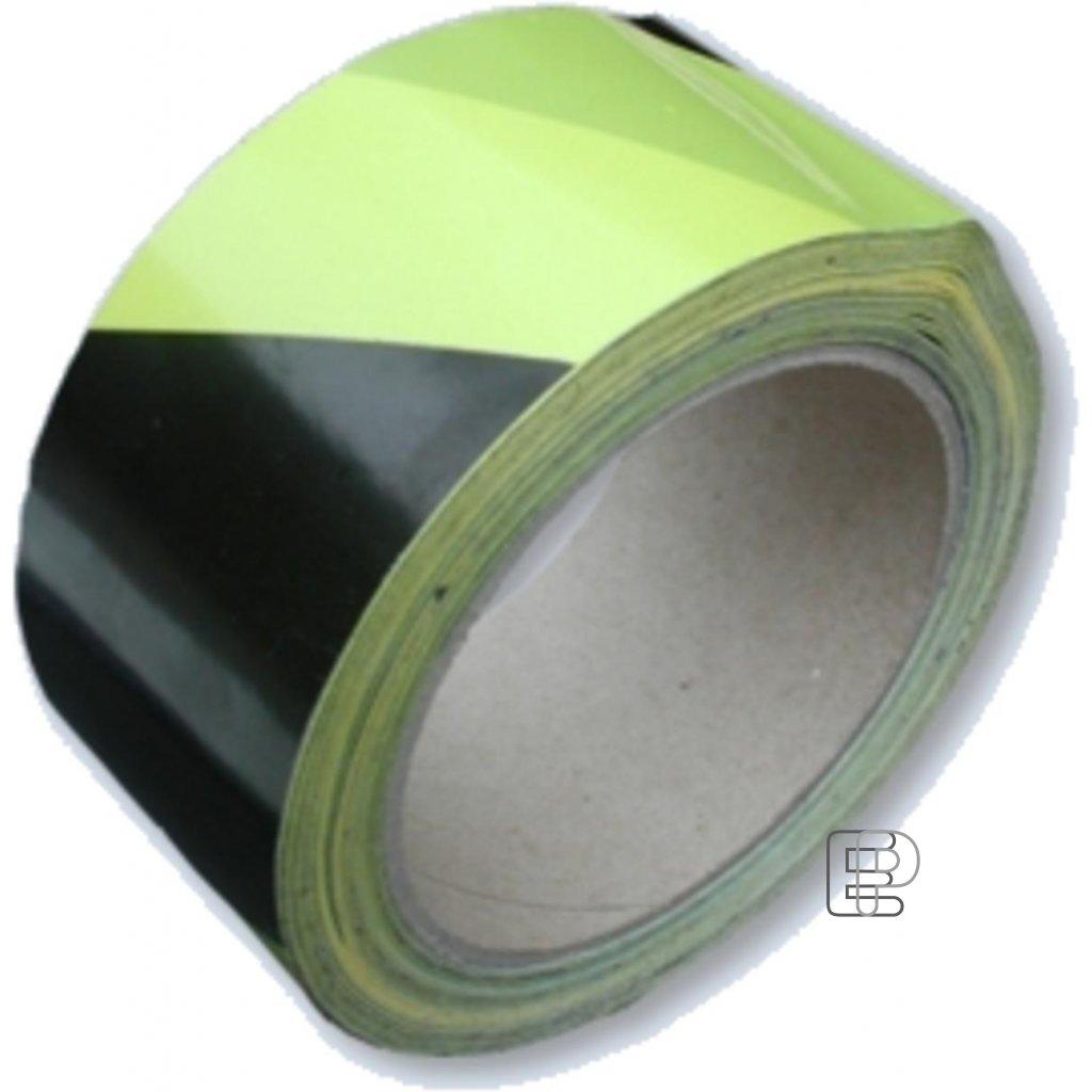 Lepící páska 50/66m žluto-černá P