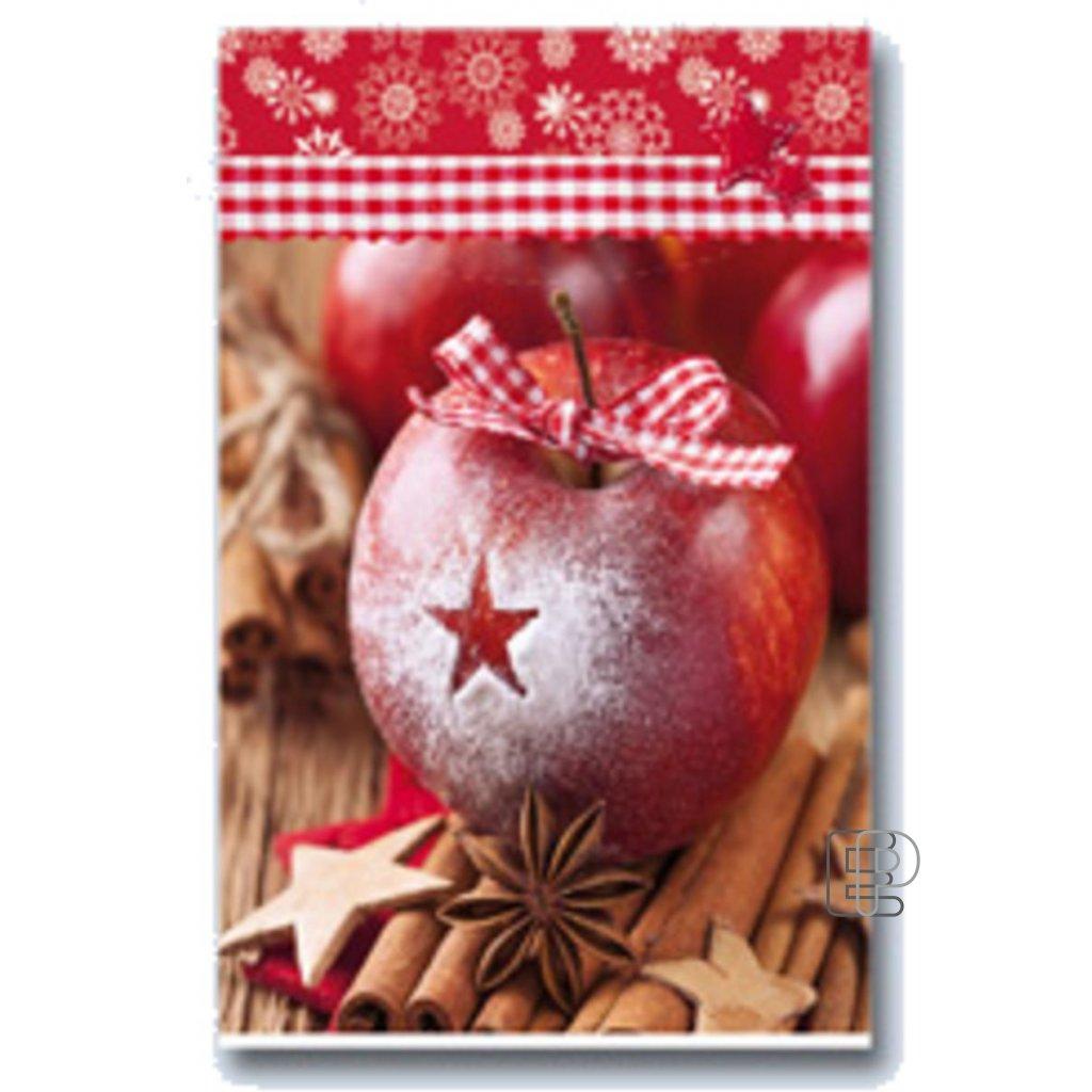 Vánoční taška PE červená  250x350