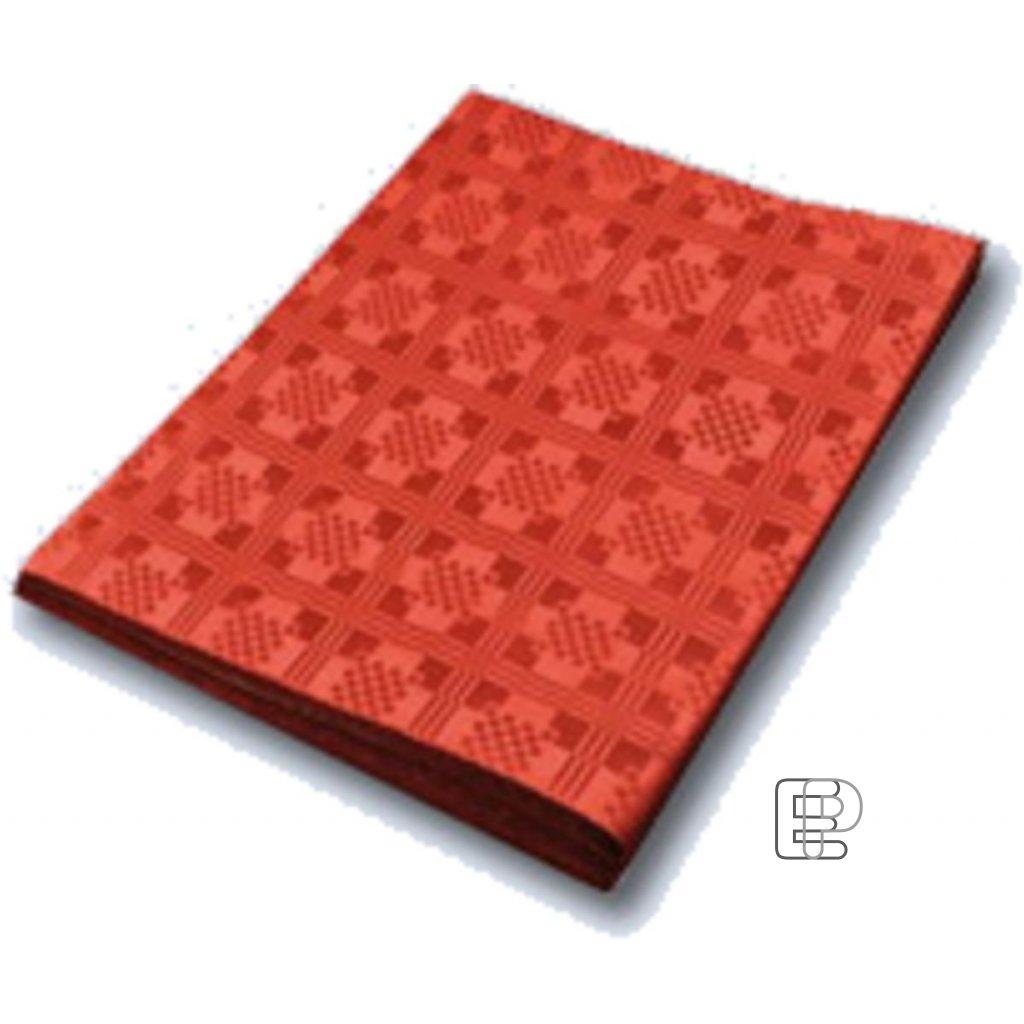 Ubrus papírový 1.8x1.2m červený 70051