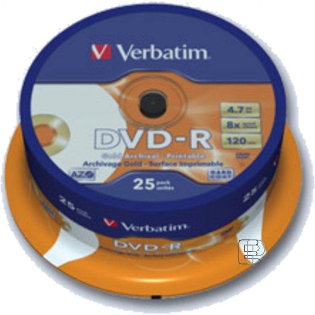 DVD-R Verbatim Printable tisk K 25ks