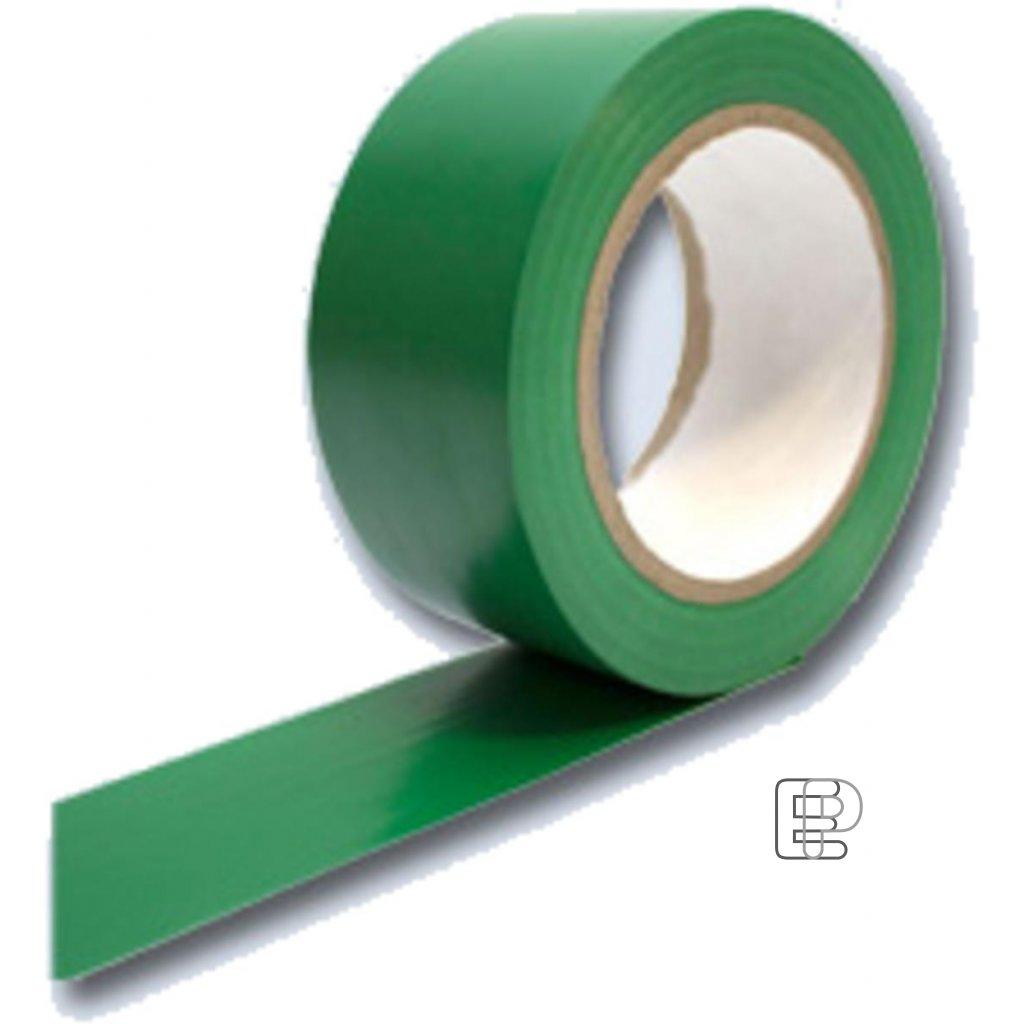 Lepící páska 50/33m PVC vytyčovací zelen
