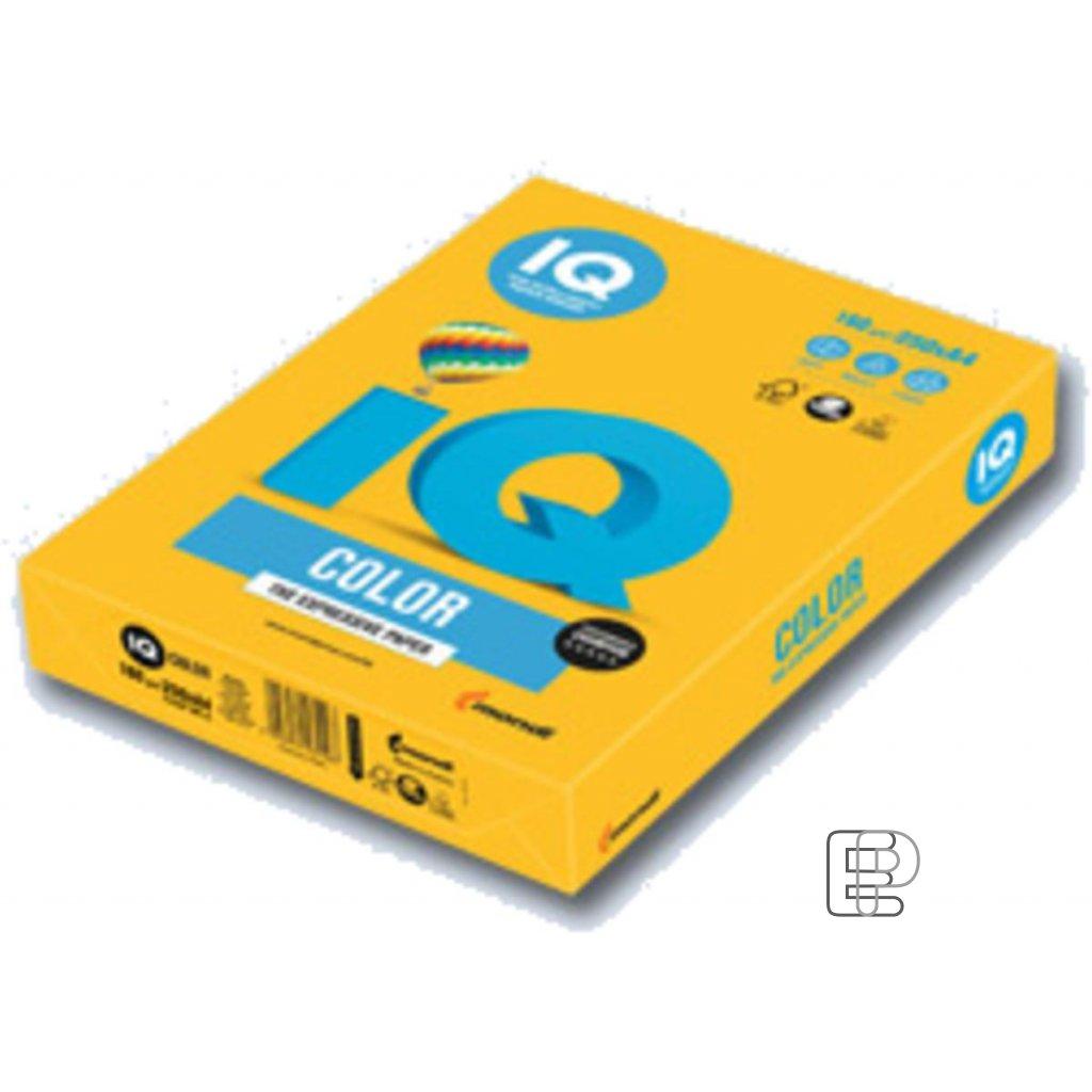 Karton A4 IQ tmavě žlutý 160g 250l 40