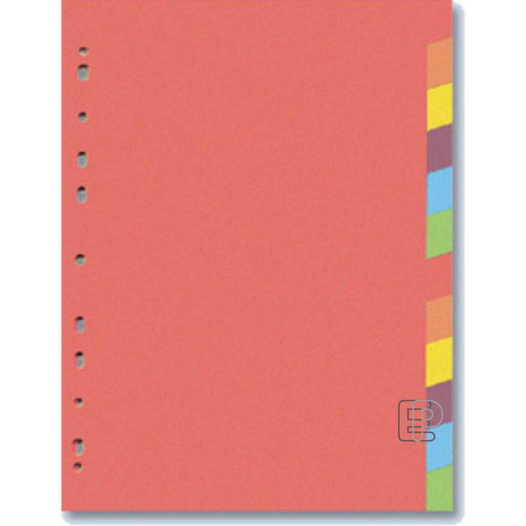 Rozdružovač A4 PP 2x6 barev