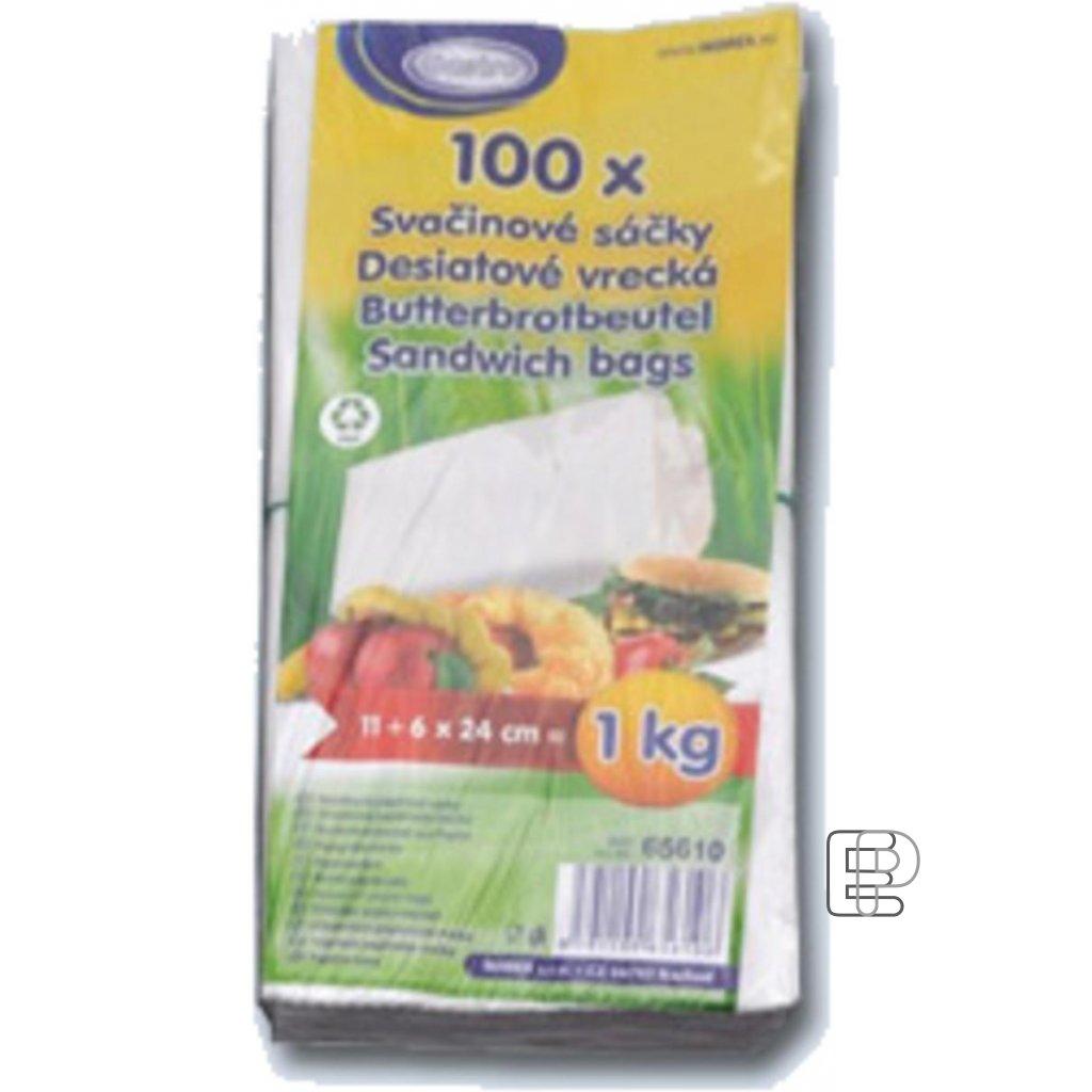 Svačinový sáček 1kg papírový 100ks