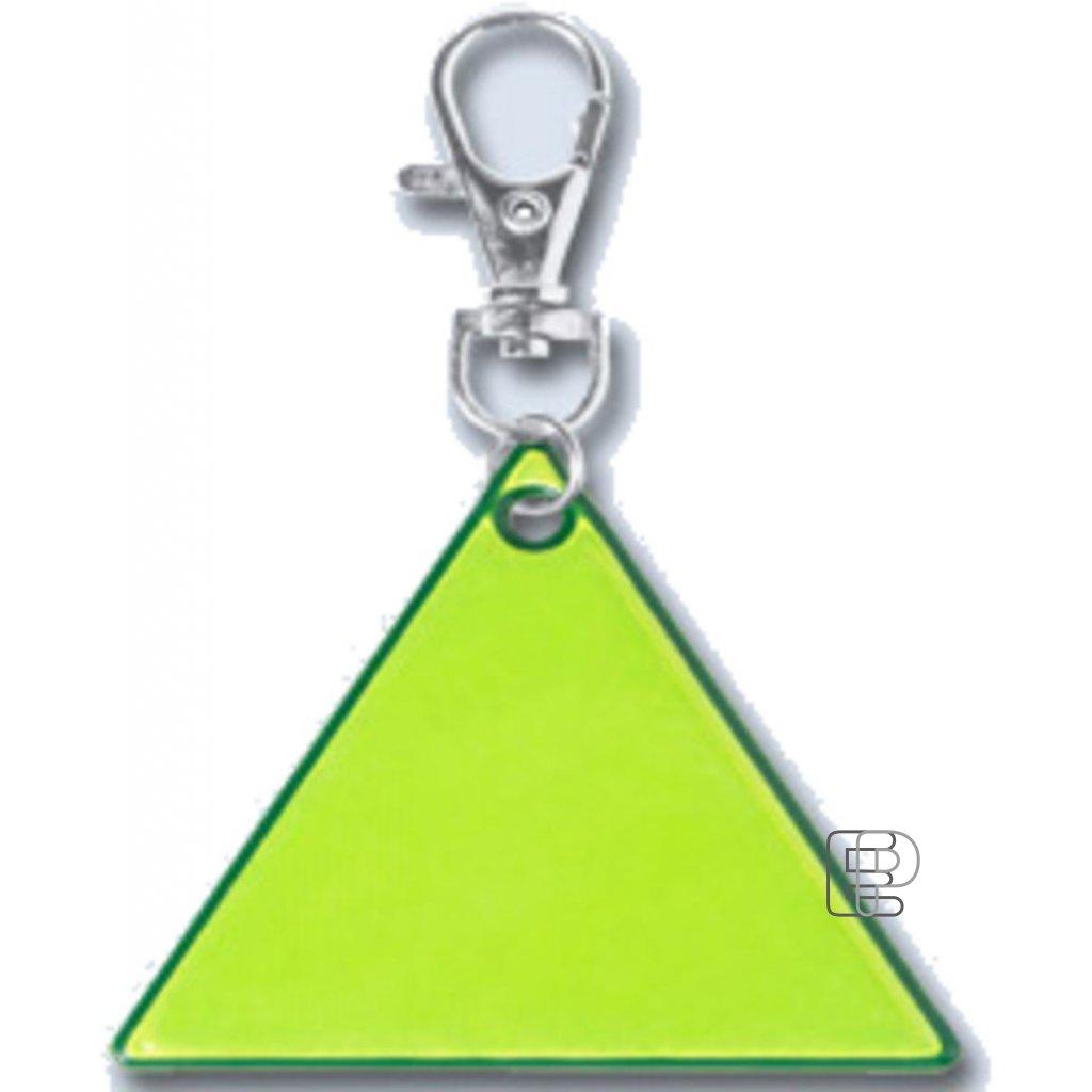 Reflexní přívešek trojúhelník 60x60x60