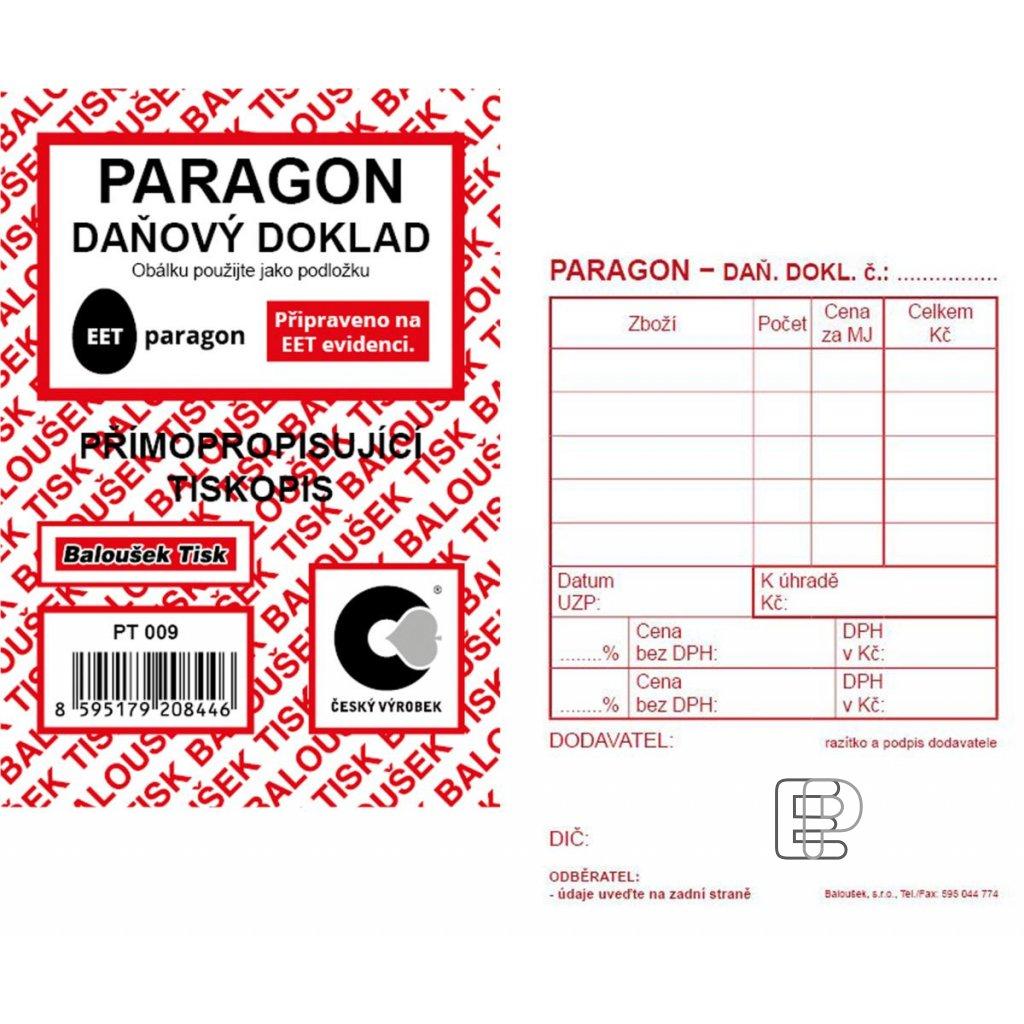 TB Paragon daňový doklad NCR A7 PT009