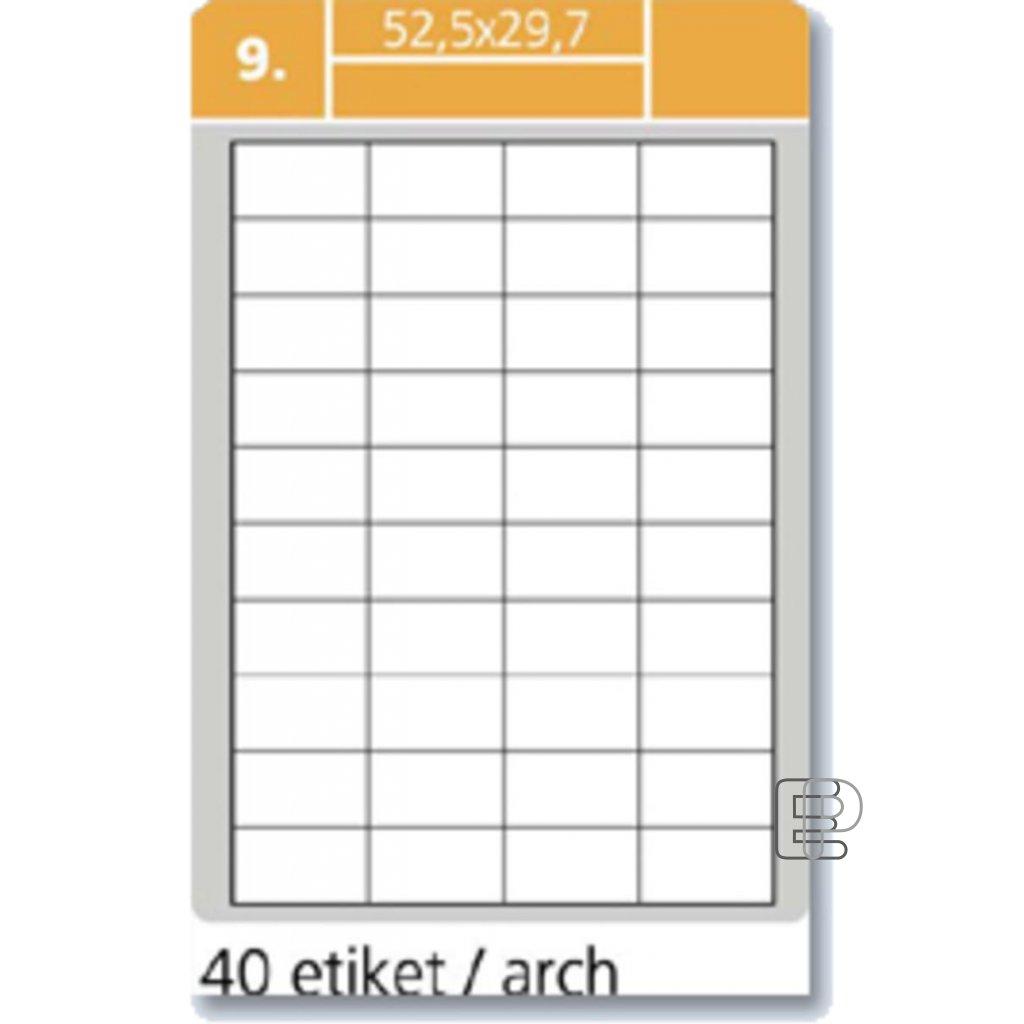 SLE Laser 52. 5x29. 7 4000 etiket