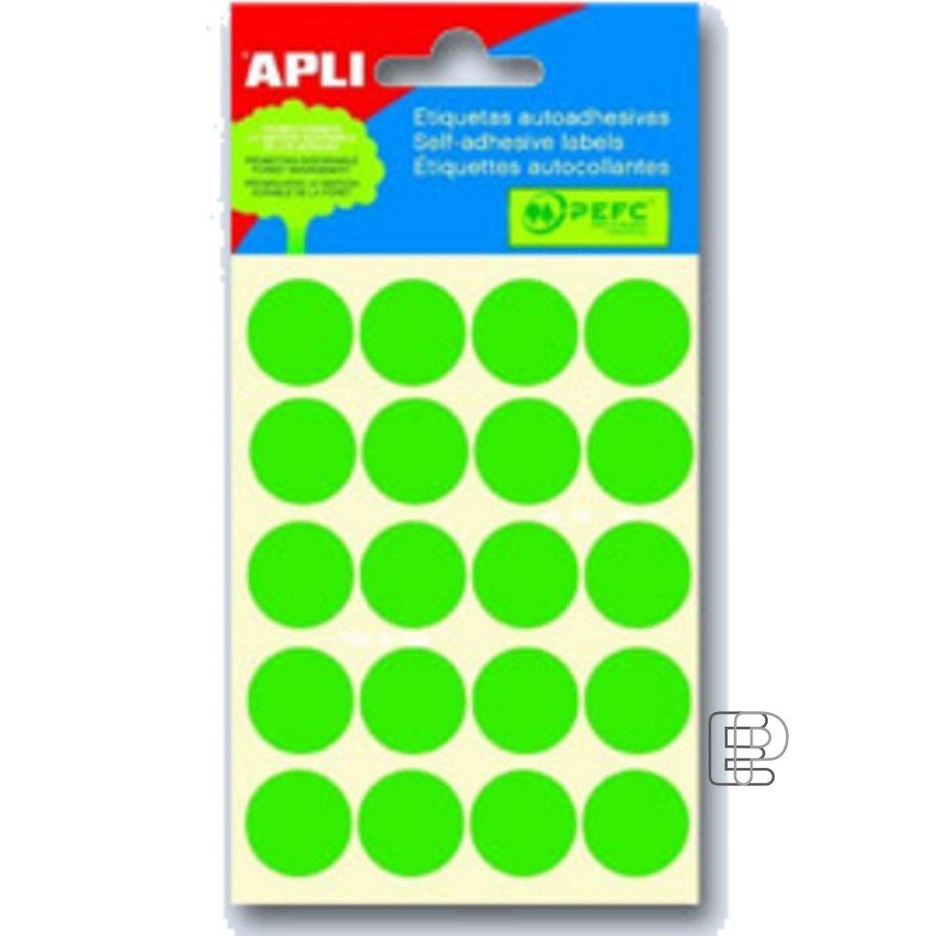 SLE Apli kulaté 19mm zelené 100 etiket